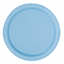 "Small Powder Blue Plates - 7"" Paper Plates (20pcs)"